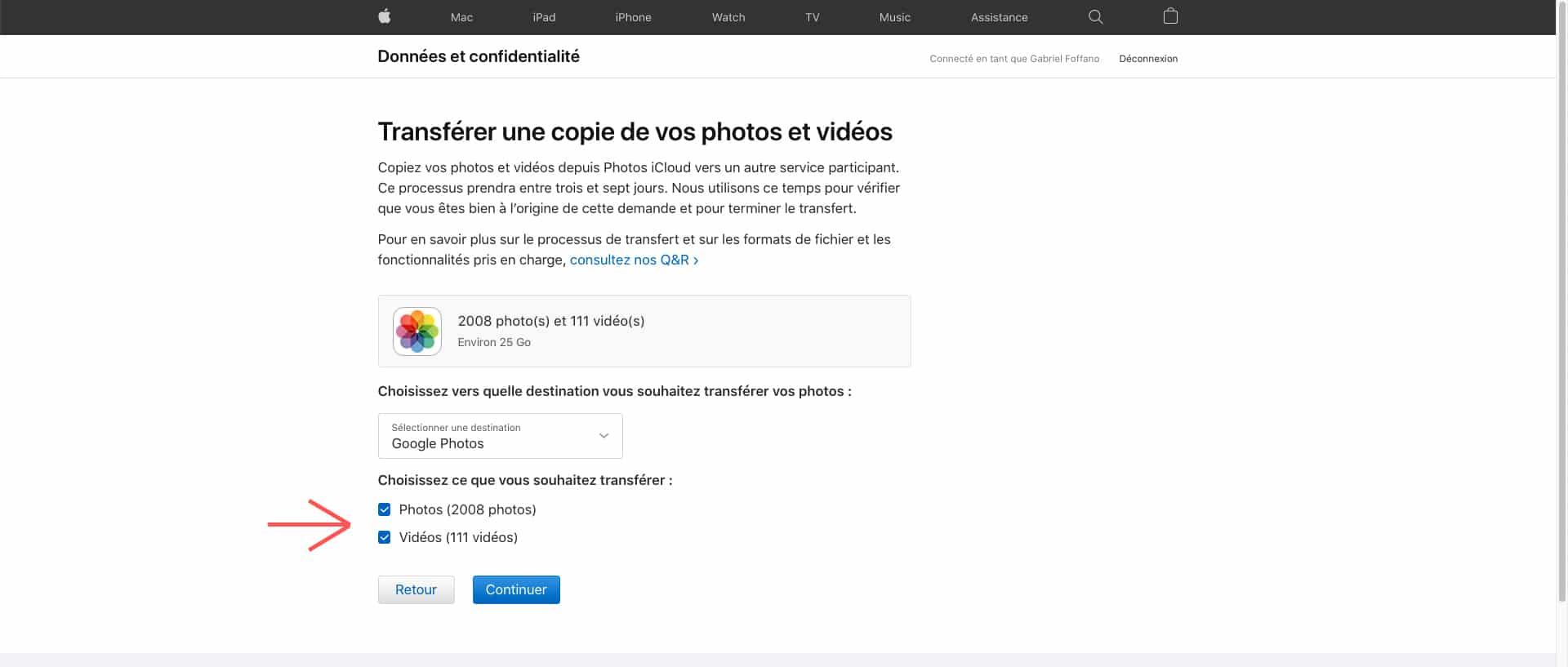 Transférer ses photos et vidéos d'iCloud à Google Photos