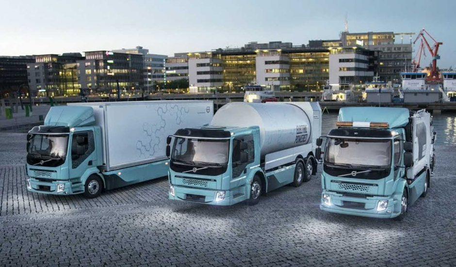 Aperçu des camions électriques de Volvo.