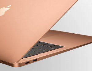 Le clavier papillon d'un MacBook Air.