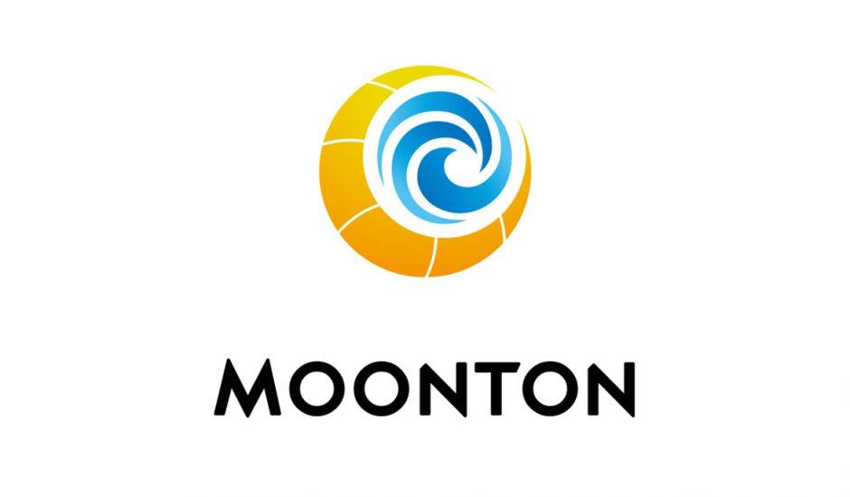 Le logo de Moonton sur un fond blanc.