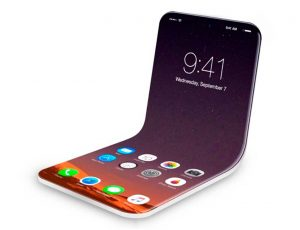 Aperçu d'un iPhone pliable.