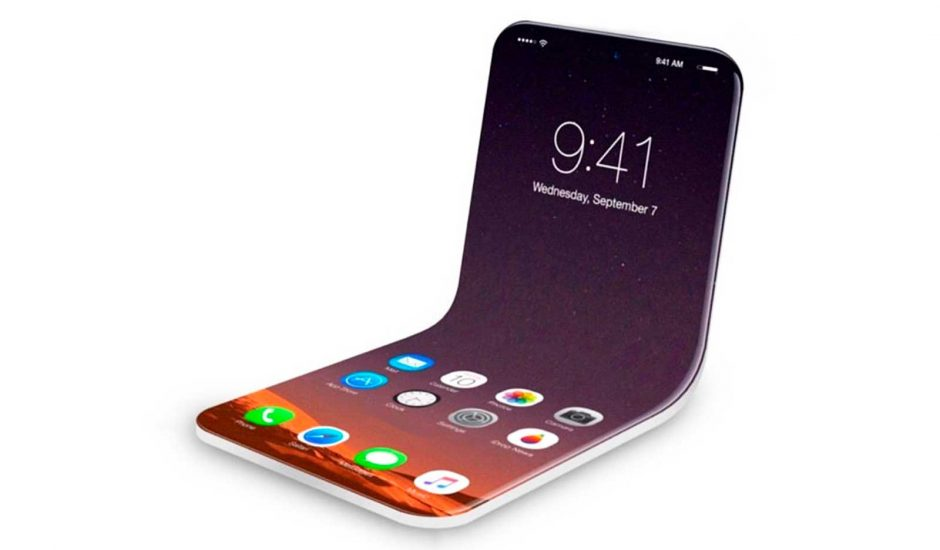 Aperçu d'un iPhone pliable.