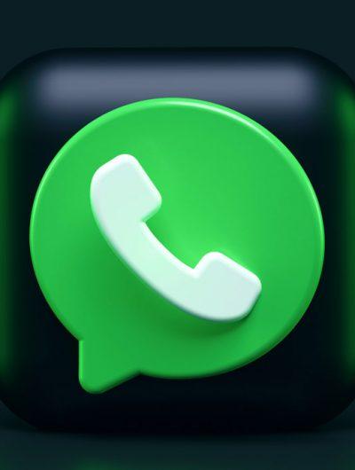 Le logo de WhatsApp en 3D.