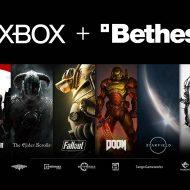 Un montage présentant différents jeux édités par le studio Bethesda.