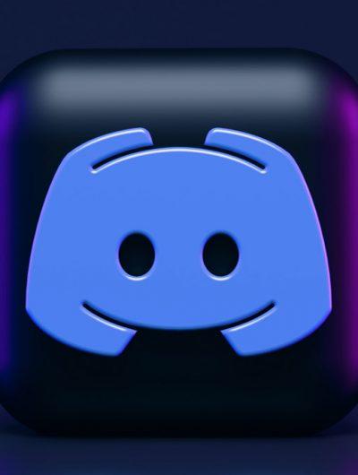 Le logo de Discord en 3D.