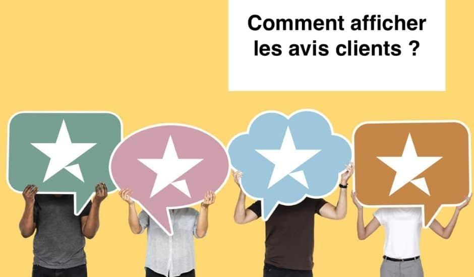 illustration du webinar sur l'affichage des avis clients