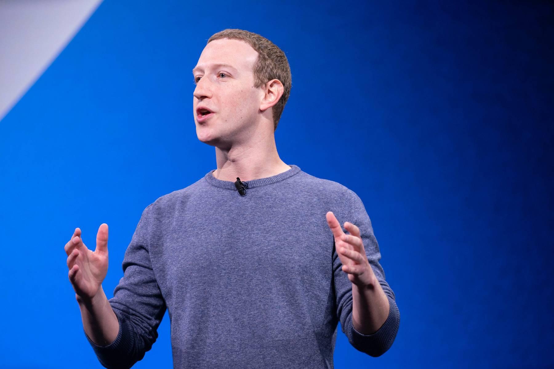 Mark Zuckerberg en train de parler.