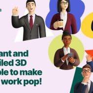 illustrations de personnages d'affaires en 3D