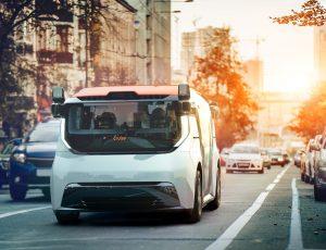 Aperçu d'un véhicule autonome de Cruise.