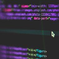 Aperçu de lignes de code.