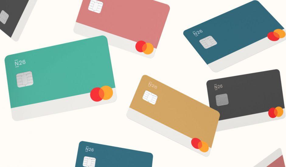Aperçu des cartes bancaires N26.