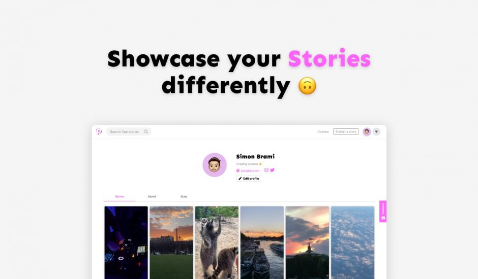 Pictalio stories exemple