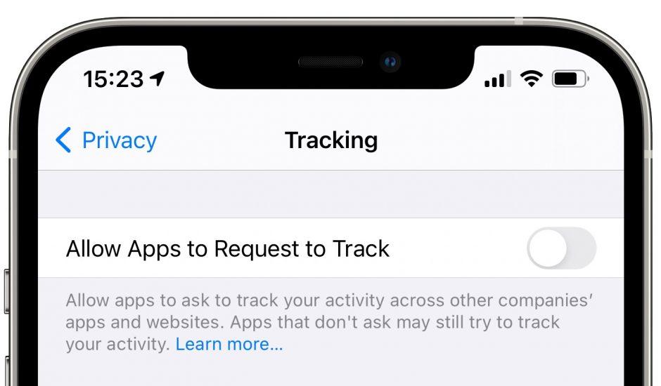 option de tracking dans les réglages iPhone