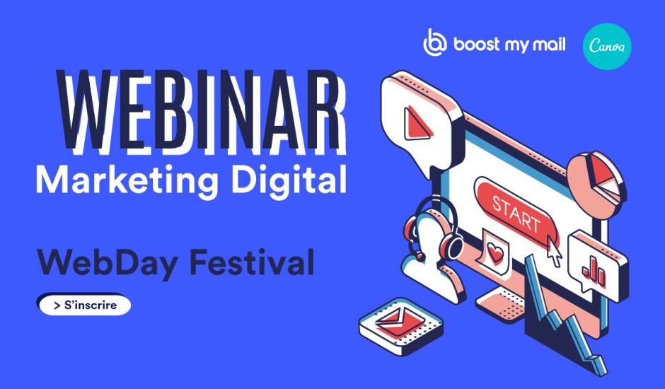 webinar sur le marketing digital organisé par boost my mail