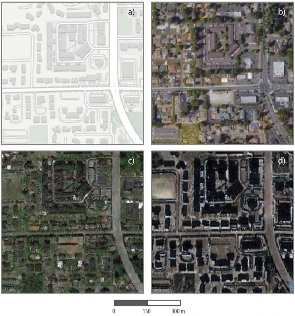 Exemple de la manière dont des chercheurs ont créé une fausse image par satellite.