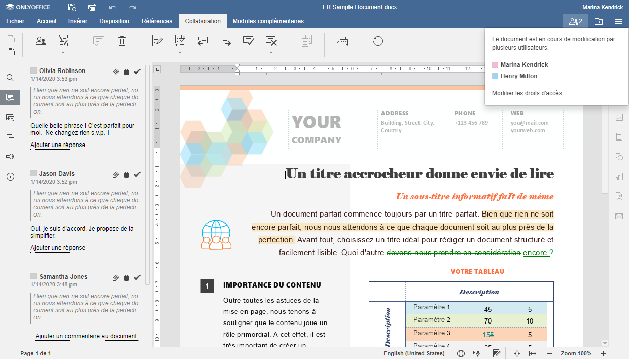 collaboration document open source onlyoffice