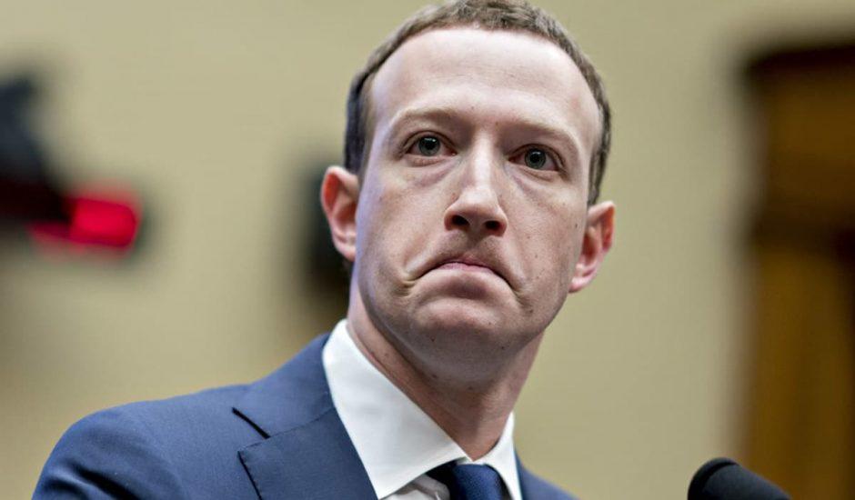 Mark Zuckerberg la mine crispée