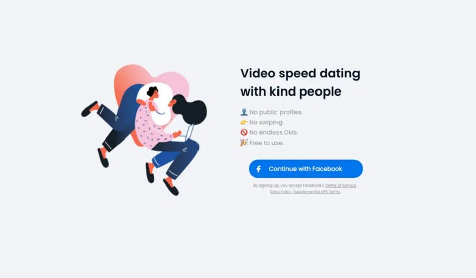 Image de présentation de Sparked, l'application de speed-dating de Facebook.