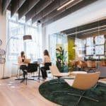 un service client dans un open office
