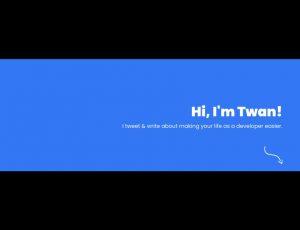 exemple de bannière pour Twitter