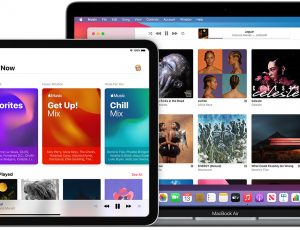 Interface Apple Music sur 4 appareils