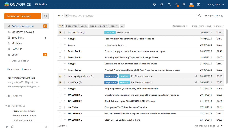 l'interface mail open source de ONLYOFFICE