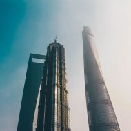 Aperçu de grands immeubles à Shanghai.