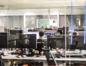 un bureau d'une entreprise SAAS