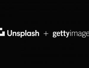 Les logos d'Unsplash et de Getty Images côte à côte.
