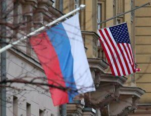 Drapeaux Russie et Etats-Unis