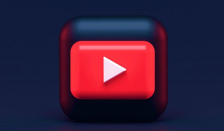 Le logo de YouTube en 3D.