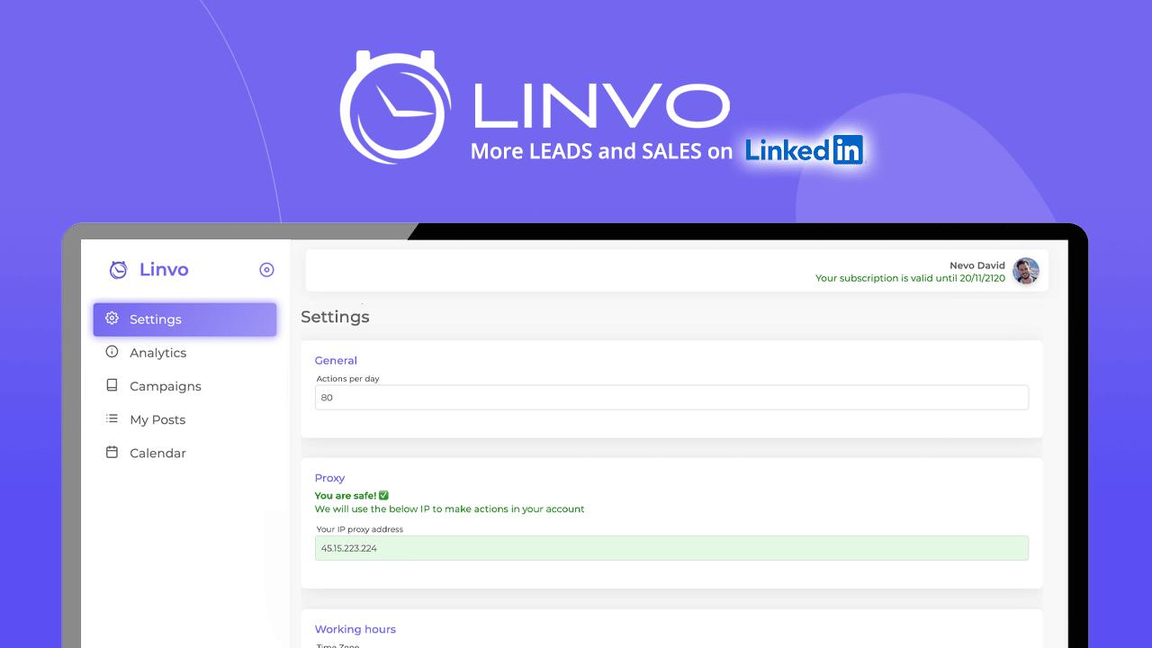 utilisation d'un proxy sur Linvo