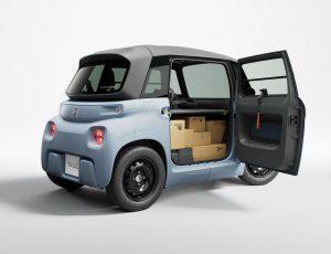 l'utilitaire électrique de Citroën avec carton