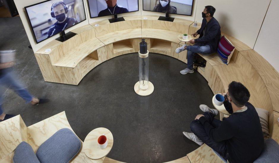Aperçu d'un open space chez Google.