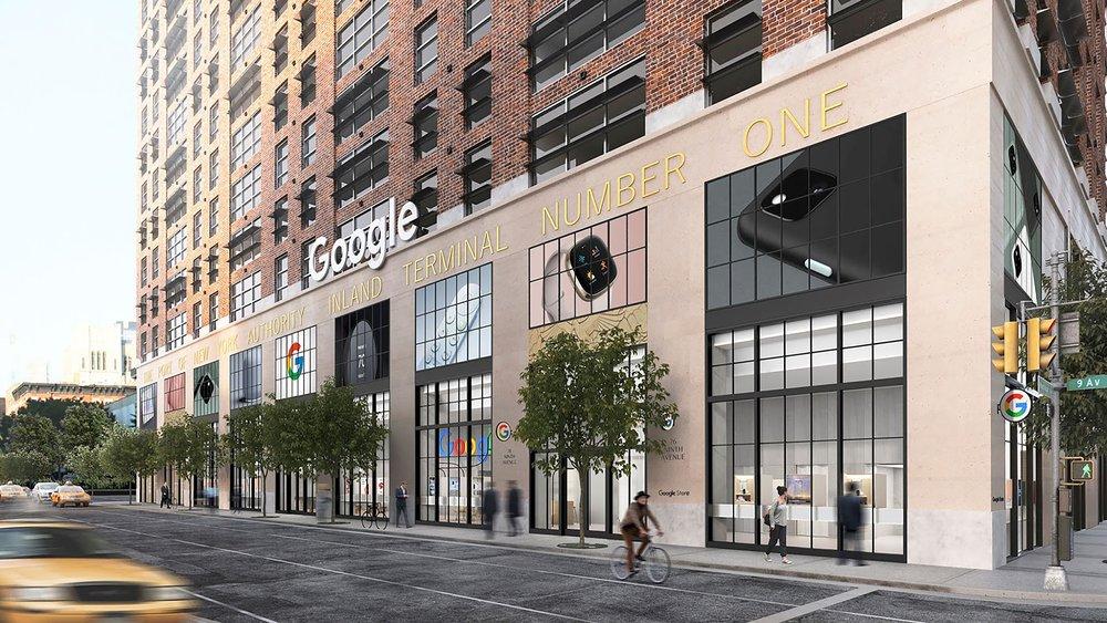 Reproducción en 3D de la portada de la próxima Google Store en Nueva York