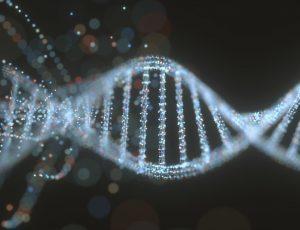 Image d'un brin d'ADN. Retron Library Recombineering, RLR, CRISPR