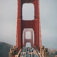 Aperçu du Golden Bridge à San Francisco.