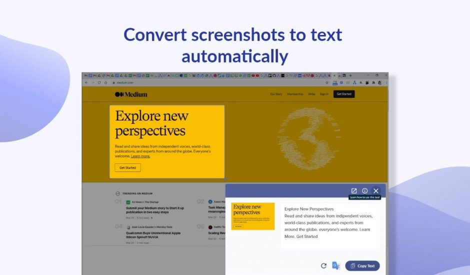 explication ScreenShot Reader
