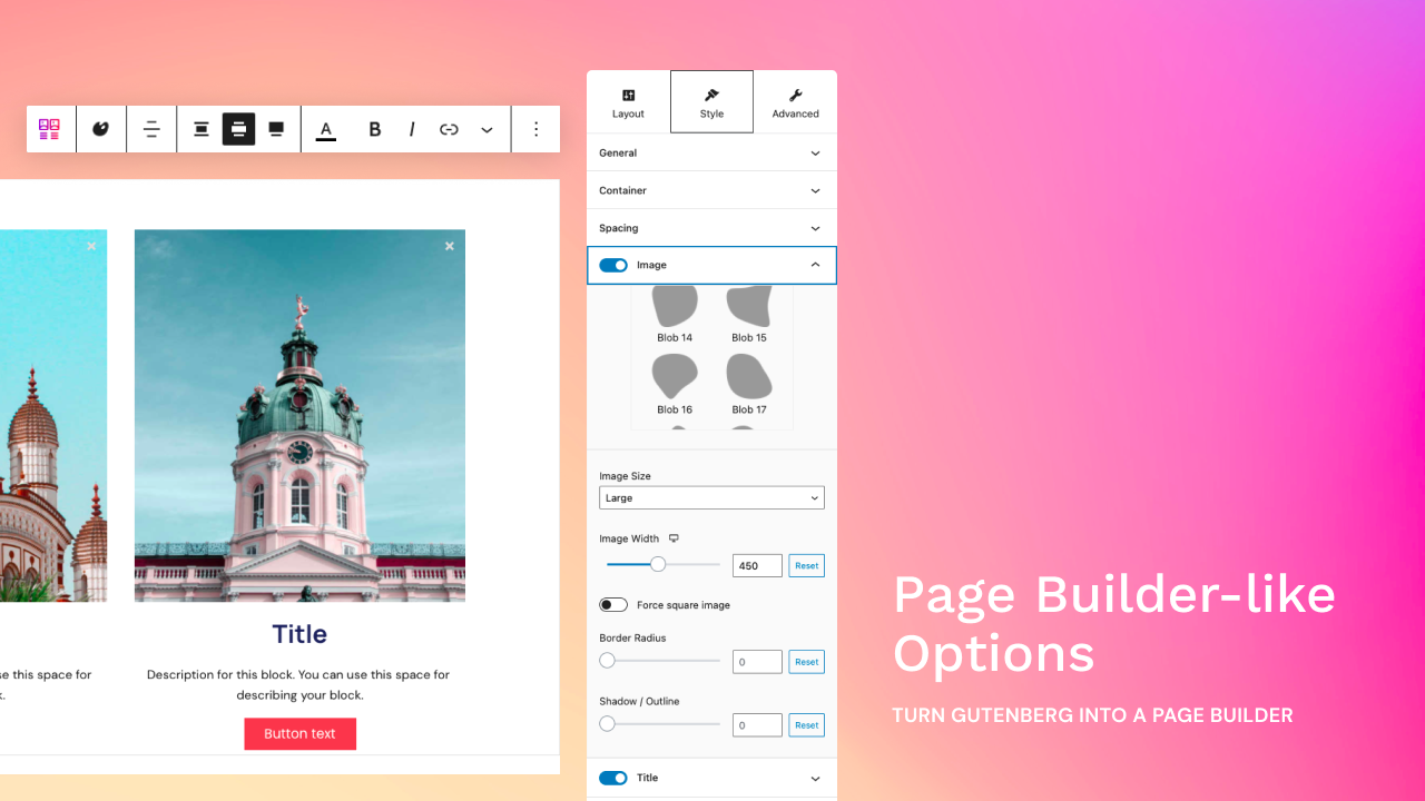 Stackable page builder