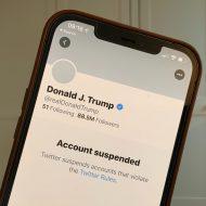 Aperçu du compte suspendu de Trump.