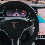 photo d'un volant tesla