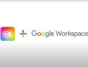 logos d'adobe et de google workspace