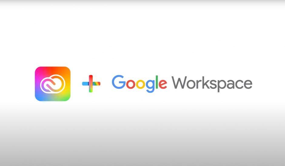 logos d'adobe et de google workspace