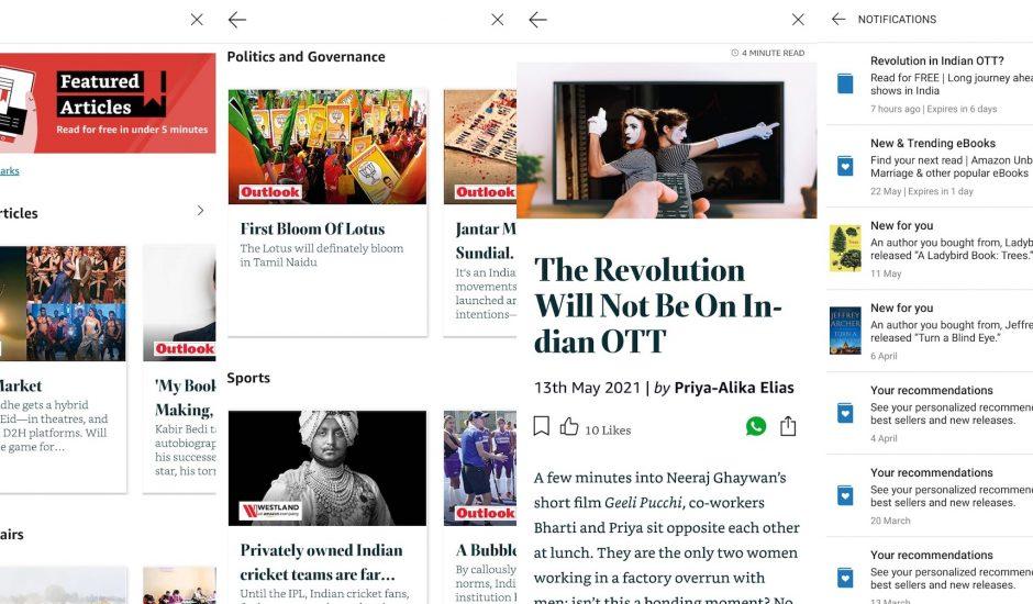 Aperçu de Featured Articles.