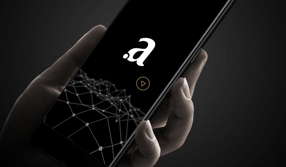 Le logo d'Arianee sur un smartphone