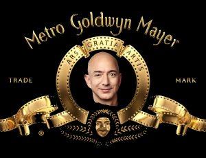 Montage avec Jeff Bezos à la place du lion de la MGM