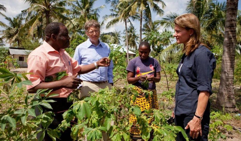 Photographie de Bill et Melinda Gates avant leur divorce.