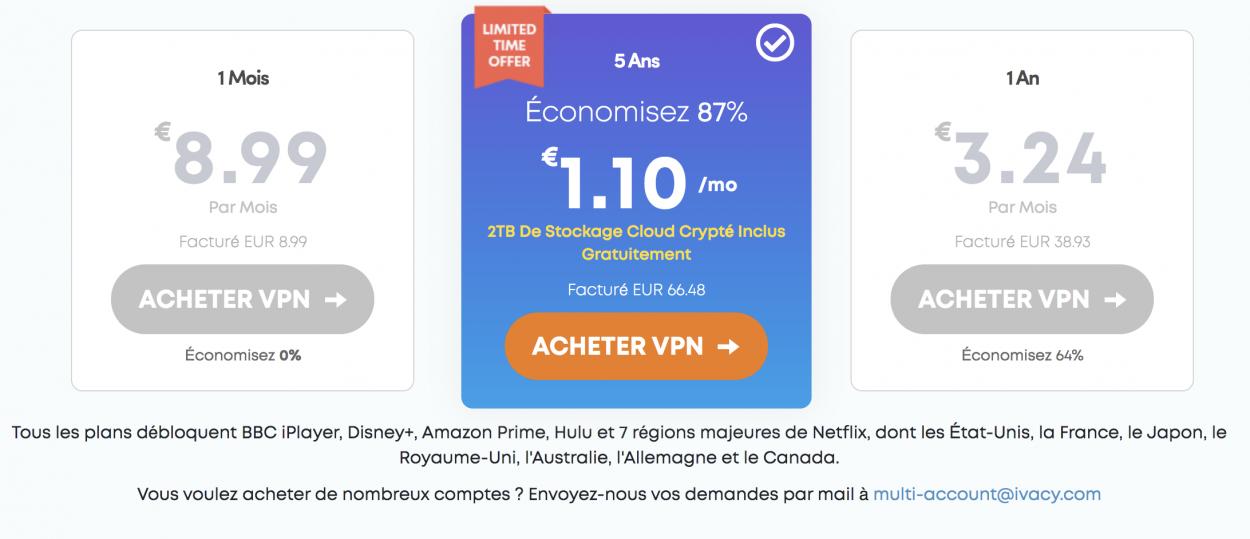 les offres ivacy vpn avec des grosses réductions