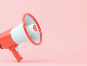 un mégaphone qui illustre la stratégie marketing