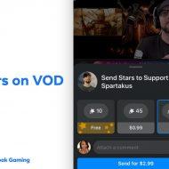 démonstration de la fonction étoiles sur facebook gaming